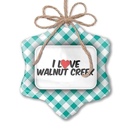 Amazon Com Neonblond Christmas Ornament I Love Walnut Creek