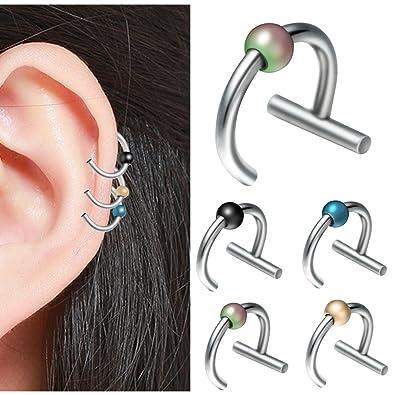 Amazon Com Evbea Cartilage Earring Hoop 16g 10mm 4 Pcs Septum