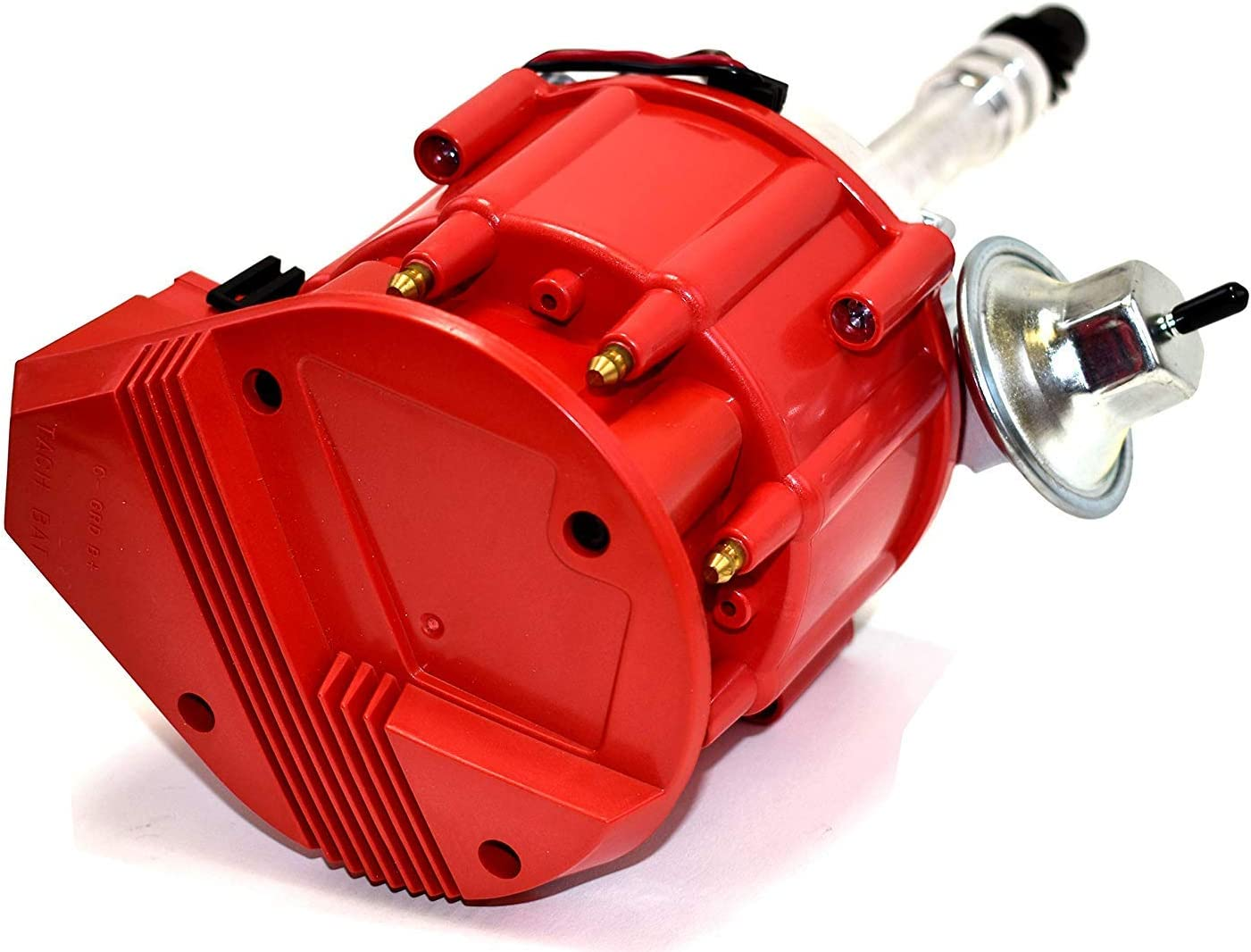 A-Team Performance HEI Distributor Red Cap w//SBC Under the Exhaust Spark Plug Wires /& HEI Pigtail Harness Compatible with Chevrolet GM GMC SBC Small Block Chevy 262 265 267 283 302 307 327 383 400