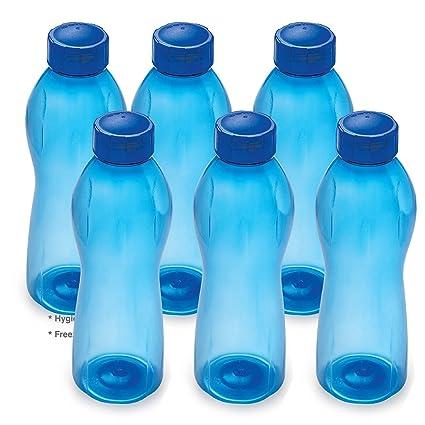 1 Litre Cello Crystal PET Bottle Set Set of 6,Blue