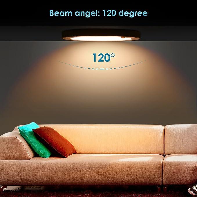 Albrillo Indoor Motion Sensor Light LED Ceiling Lights Flush Mount ...