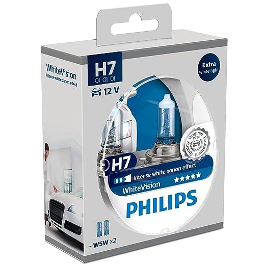 724 opinioni per Philips 12972WHVSM WhiteVision Effetto Xenon H7 Lampada Fari, Confezione Doppia