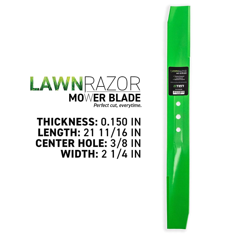 8TEN LawnRAZOR - Cuchilla de elevación Mediana de 22 Pulgadas para ...