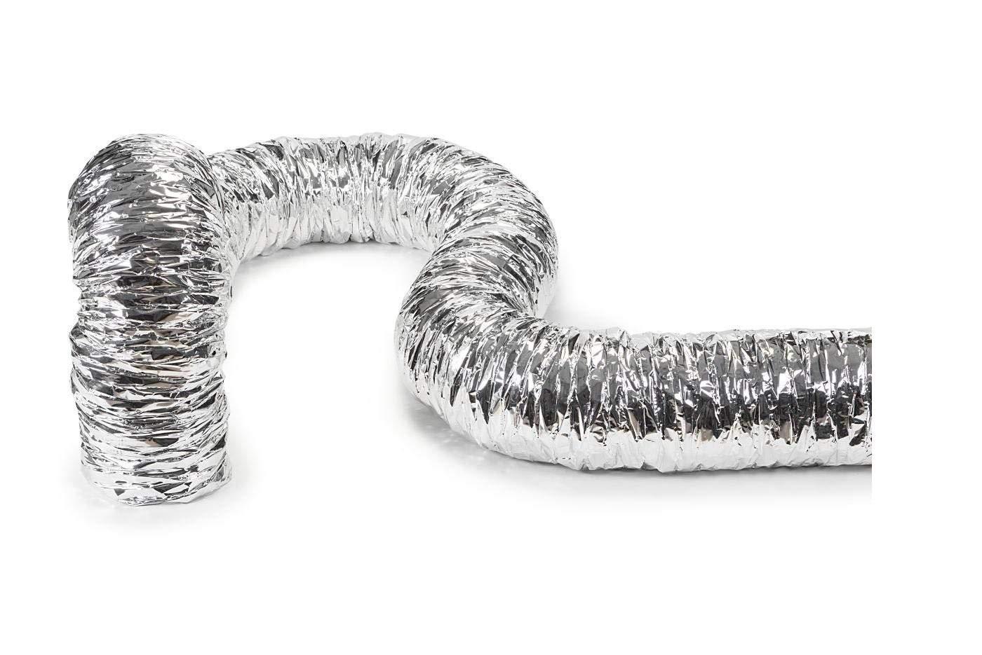 Tubo Flessibile Alluminio Isolato Afonico per Aria Calda Fredda VMC 10 metri DN 203