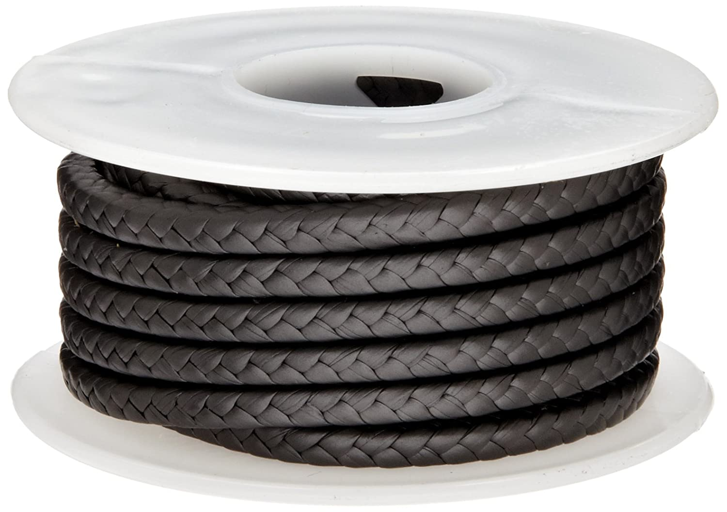 Palmetto 1382 Series Expanded PTFE with Graphite Compression Packing Seal 10 Length 1//2 Square Dull Black