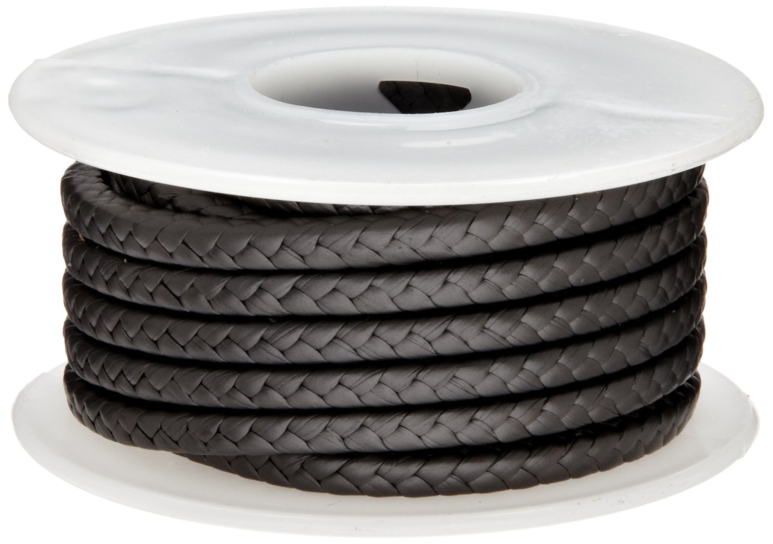 Palmetto 1382 Series Expanded PTFE with Graphite Compression Packing Seal, Dull Black, 1/4'' Square, 5' Length