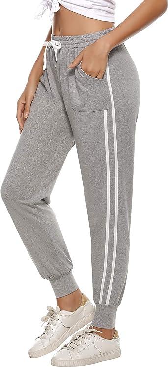 Sykooria Pantalones Jogger a Rayas para Mujer Pantalones ...