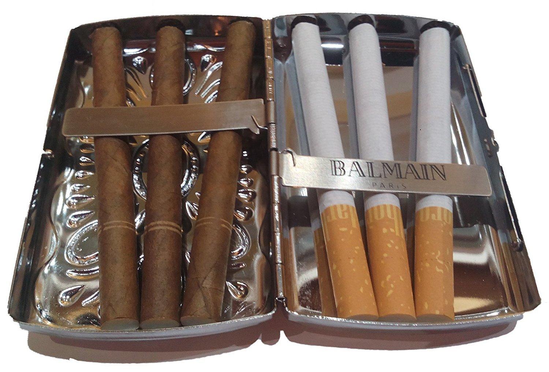 Balmain Paris - Funda para Cigarrillos, Color Plateado