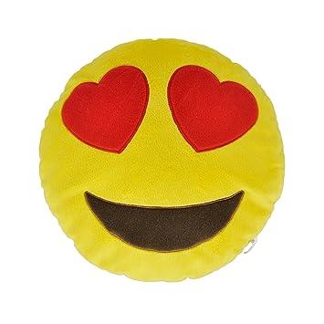 Necknapperz - Peluche Emoji con Corazones en los Ojos (Color Amarillo)