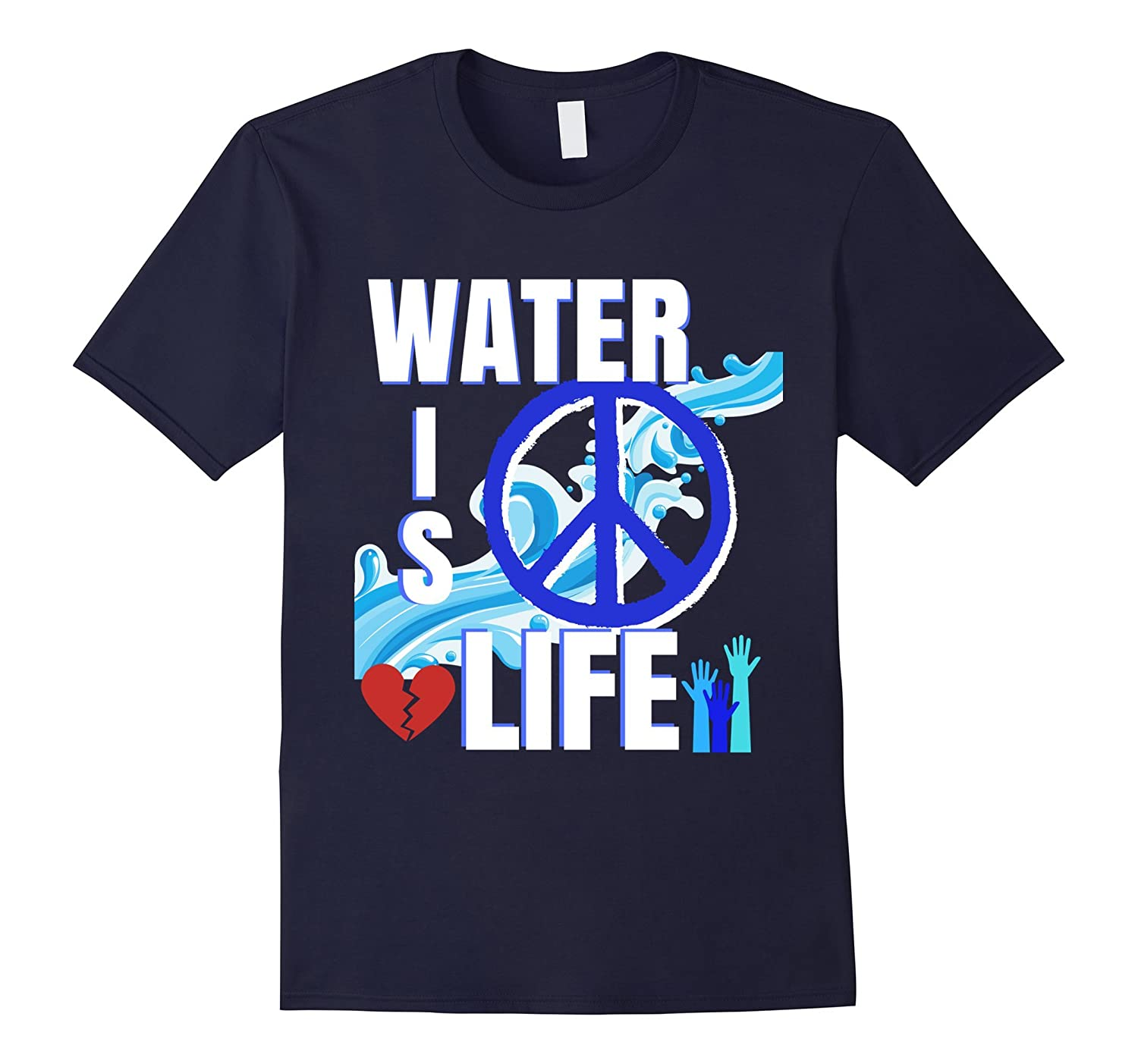 Water Is Life Standing Rock Support Protest Rezpect Shirt-RT