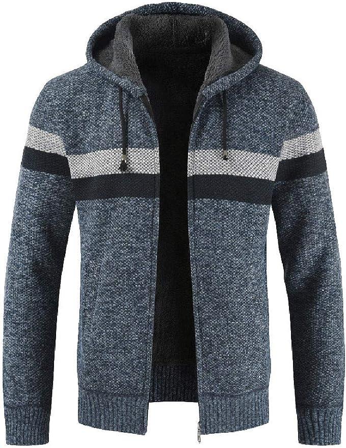 Longra Herren Strickjacke Zip Jacke mit Kapuzen aus