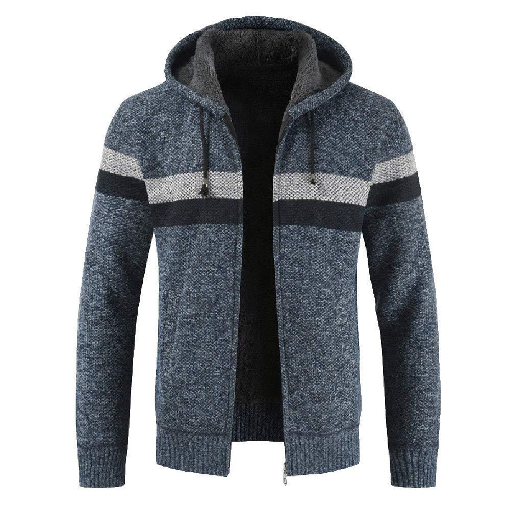 kemilove Mens Fuzzy Fleece Hooded Jackets Open Front Cardigans Hoodie Long Sleeve Coats