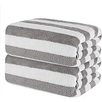 CHRUNONE Toallas de baño, 139,7 x 68,5 cm, juego de 2 toallas de baño superabsorbentes, toallas suaves para baño, hotel…