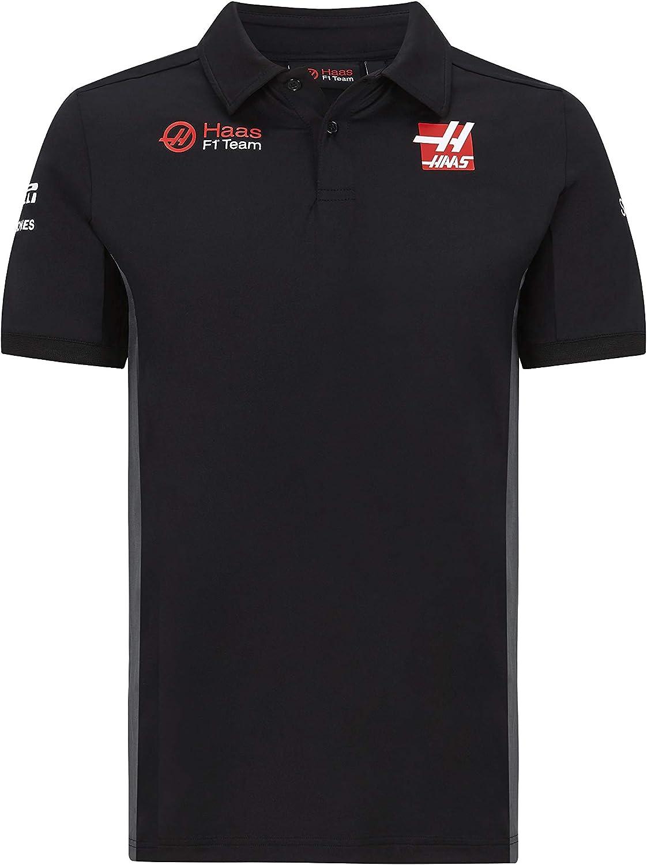 Haas Racing F1 2020 Mens Team Polo Black