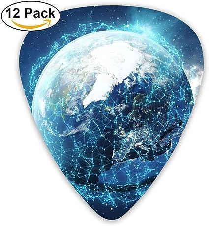 Social Network Earth Network Concept Guitar Picks - 12 pack: Amazon.es: Instrumentos musicales