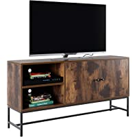Homfa Mueble TV Salón Mesa para TV Armario Salón Mueble Auxiliar Dormitorio con 2 Puertas 4 Compartimientos Vintage…