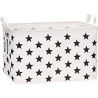 Sea Team 16.5 x 11.8 x 9.8 inches Square Canvas Fabric Storage Bins Shelves Storage Baskets Organizers for Nursery & Kid…