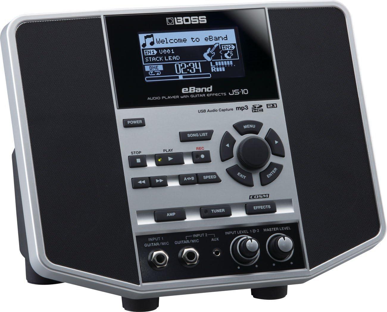 BOSS ボス - オーディオプレーヤー/ギターエフェクター eBAND JS-10 + KORG Pitchclip 2 PC-2 + マークスオリジナルクロス セット