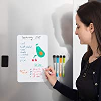 Royalkart Magnetic Dry Erase Whiteboard Sheet for Refrigerator- Kitchen Whiteboard - Refrigerator Magnets