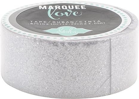 """10/' Heidi Swapp Marquee Love Decorative Tape .875/""""-black Glitter"""