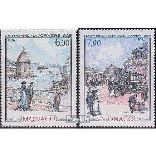 monaco 1841-1842 (complète.Edition.) 1987 monte carlo & monaco (Timbres pour les collectionneurs)