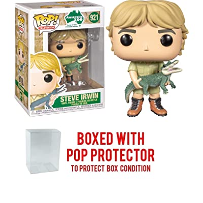 Pop TV: Steve Irwin The Crocodile Hunter with Alligator Pop Vinyl Figure (Includes Compatible Pop Box Protector Case): Toys & Games