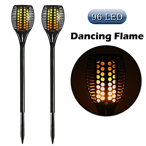 Amazon cinoton solar light path torches dancing flame cinoton solar lightpath torches dancing flame lighting 96 led dusk to dawn flickering torches workwithnaturefo