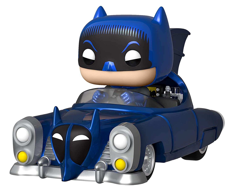 Funko Pop! Rides: Batman 80th - Blue Metallic 1950 Batmobile,  Exclusive