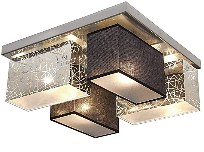 Plafoniera In Tessuto Prezzi : Moderno plafoniera labirinto modeling tessuto paralume metallo