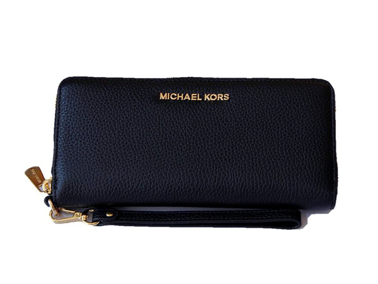 Michael Kors Jet Set Travel Continental Leather Wallet/Wristlet Navy Gold by Michael Kors