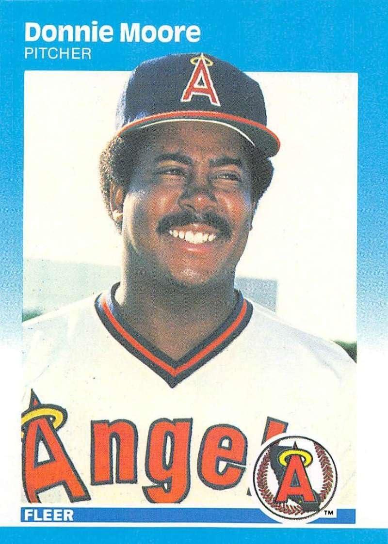 1987 Fleer Glossy #89 Donnie Moore California Angels