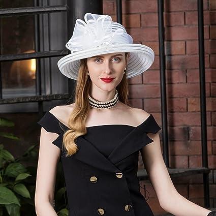 FEI Elegante Sombrero de Copa Sombrero Sombrero de Moda Sombrero de Verano  Sombrero de Playa Sombrero 79f1835c6a6