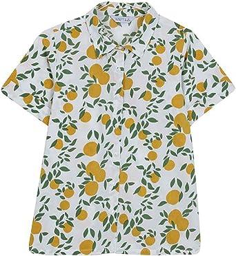 Compañia Fantastica Camisa Estampado Mujer: Amazon.es: Ropa y accesorios