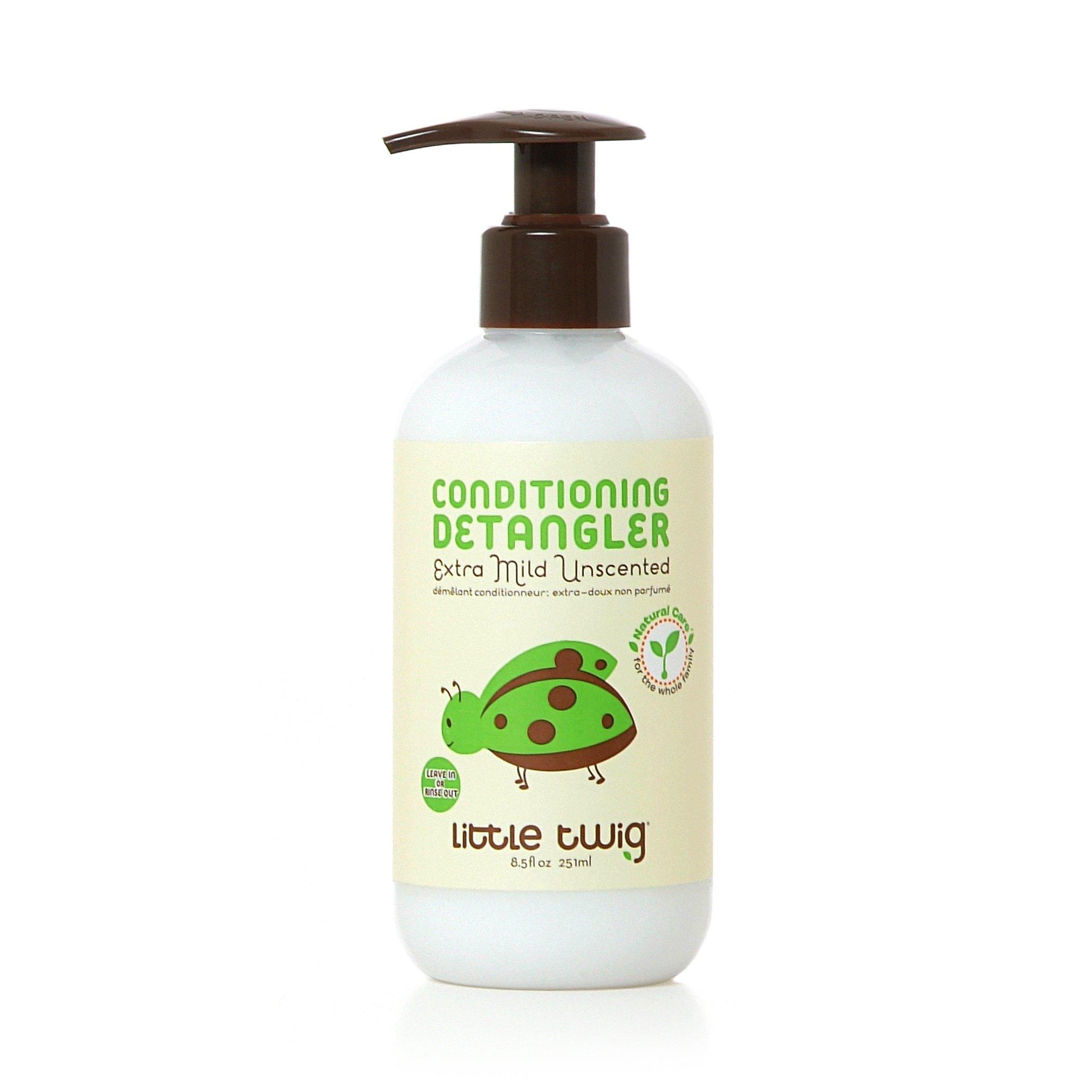 Little Twig All Natural, Hypoallergenic, Extra Mild Organic Conditioning Detangler for Sensitive Skin, Unscented, 8.5 Fluid Oz