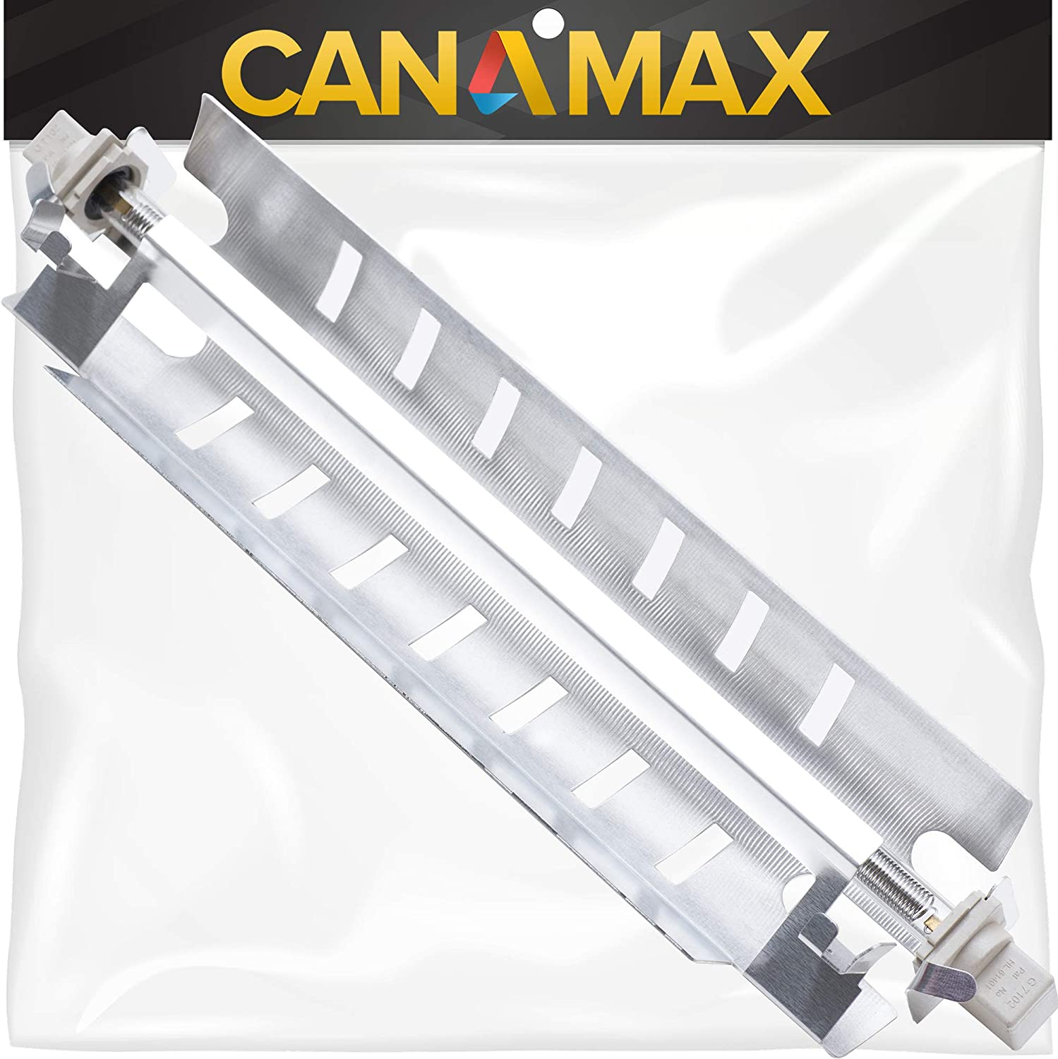 WR51X10055 Defrost Heater Heating Element Assembly Premium Replacement Part by Canamax - Compatible with GE Hotpoint Refrigerators - Replaces 914088 AP3183311 WR51X10030
