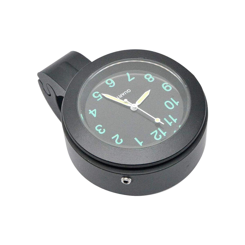 PRINDIY 7//8Mini Horloge Num/érique Montre /Étanche Universel V/élo Guidon Montage Horloge Horloge De Moto Blanc