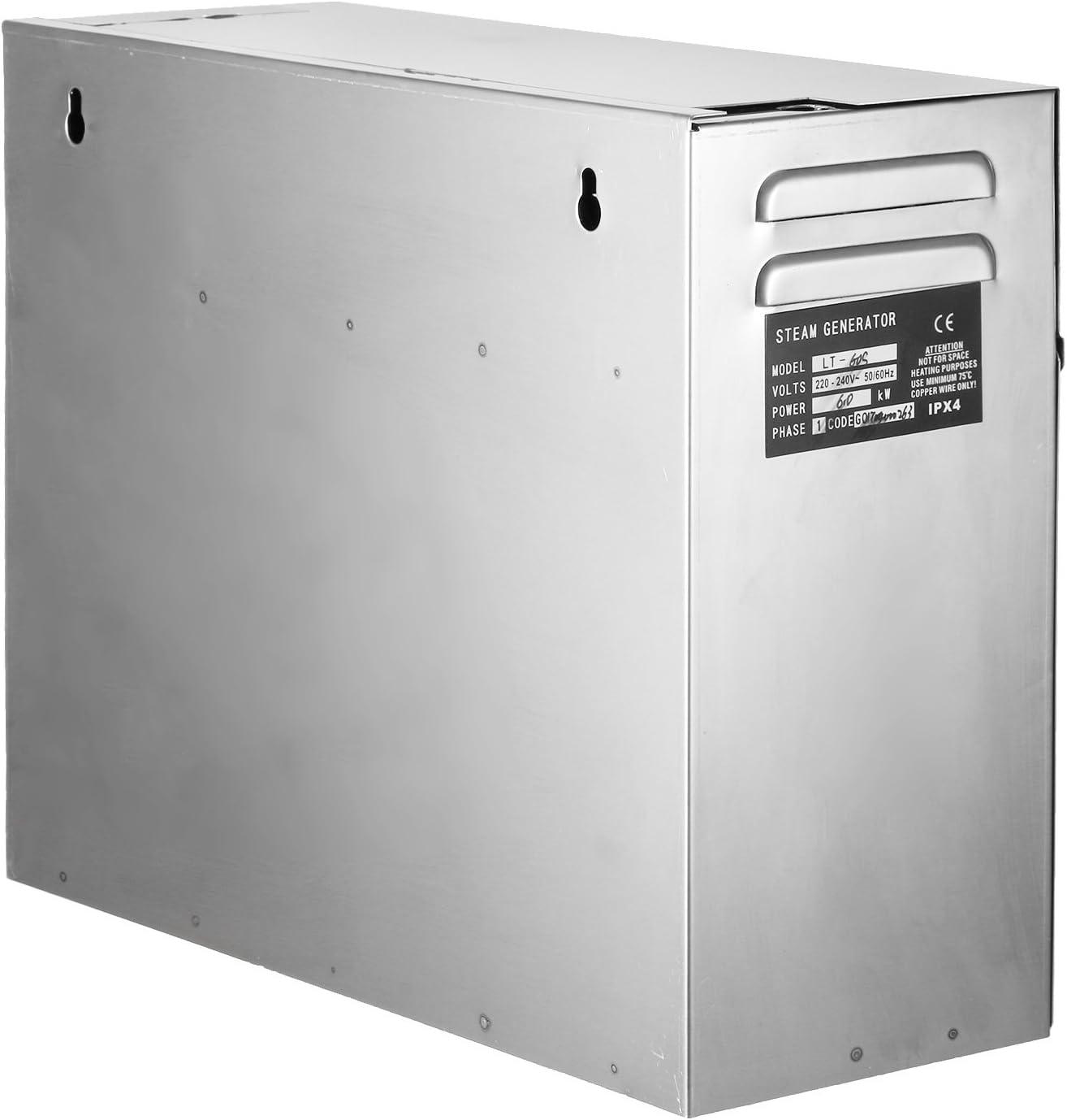 BuoQua 6KW Dampfgenerator Dusche Dampferzeuger Sauna F/ür Dampfbad Dampfdusche Und Dampfb/äder Private Und Gewerbliche Dampfger/ät