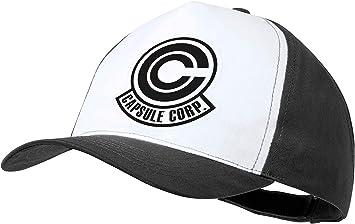 MERCHANDMANIA Gorra Negra Logo Capsule Corp Dragon Ball Color Cap ...