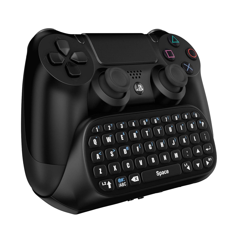 Gamers Digital Mini Bluetooth Keyboard Chatpad for Playstation 4 - Black PS4