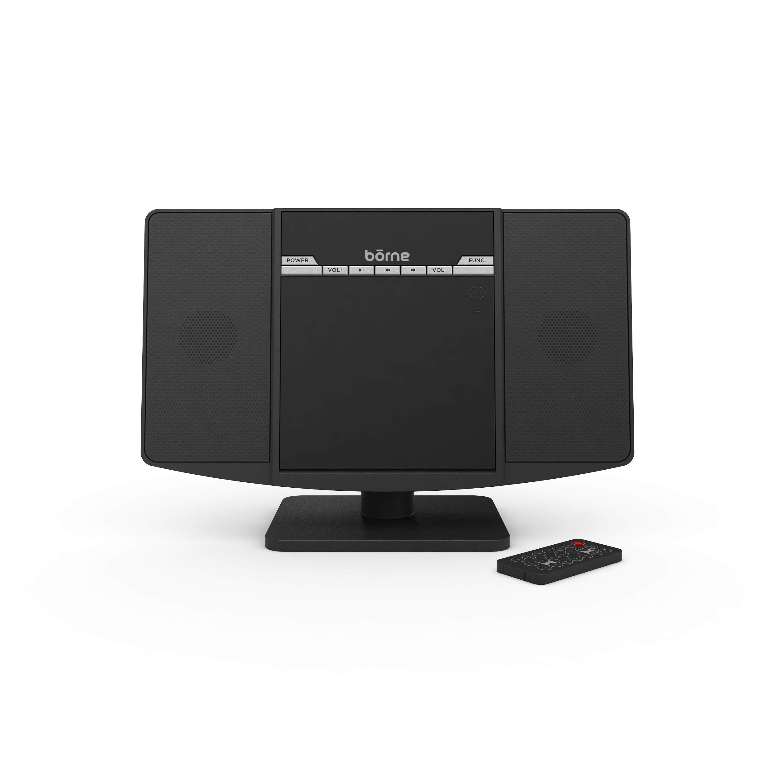 Borne Vertical CD Micro System with FM Radio Bluetooth Compatible by Borne