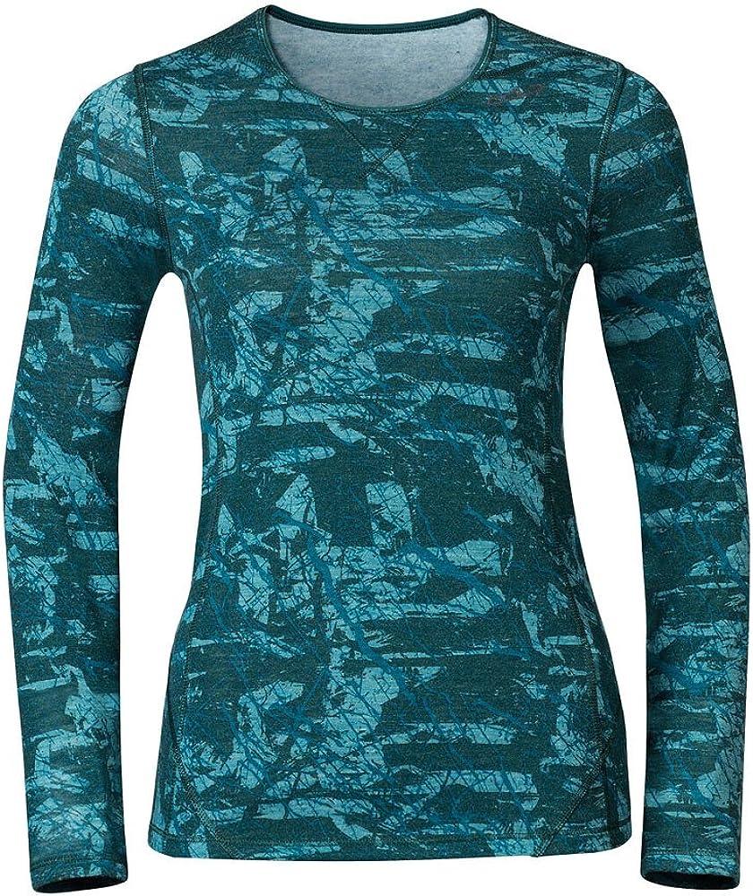 TALLA XL. Odlo Shirt L/S Crew Neck Livigno Revolution T Ropa Interior, Mujer