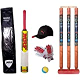 Jaykal Small Boys Cricket Set, Wooden Cricket Kit with Carry Bag, Cricket Kit Full Set