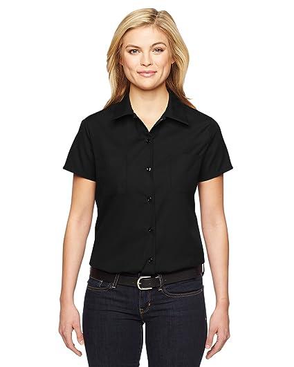 3afa8b151fd Dickies Occupational Workwear FS5350BKS FS5350 Women s Short Sleeve  Industrial Work Shirt