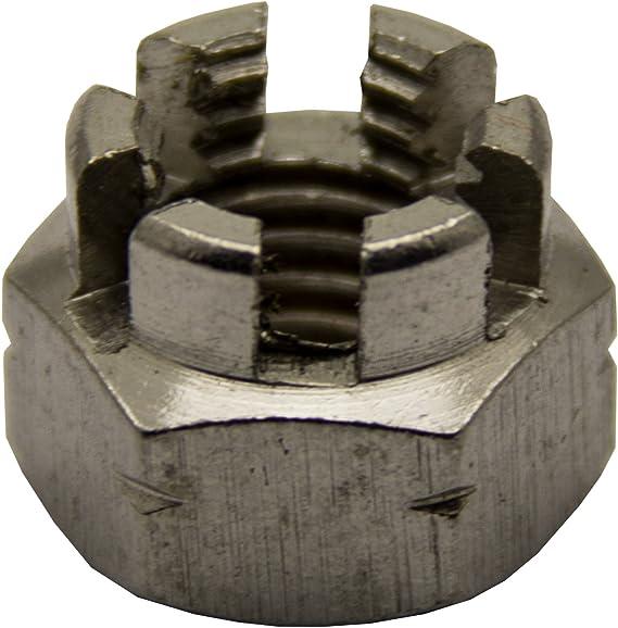 Kronenmuttern M20 DIN 935 Edelstahl A2 5 St/ück Sicherungsmuttern