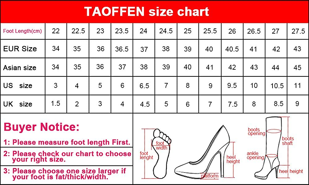 TAOFFEN Women Fashion Heels Sandals 6 Peep Toe B07CXKM8GF 6 Sandals US = 23.5 CM|Black b03b53