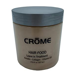 Crome Hair Food - Keratin Leave - In Conditioner - 17.5 Oz - Hair Treatment