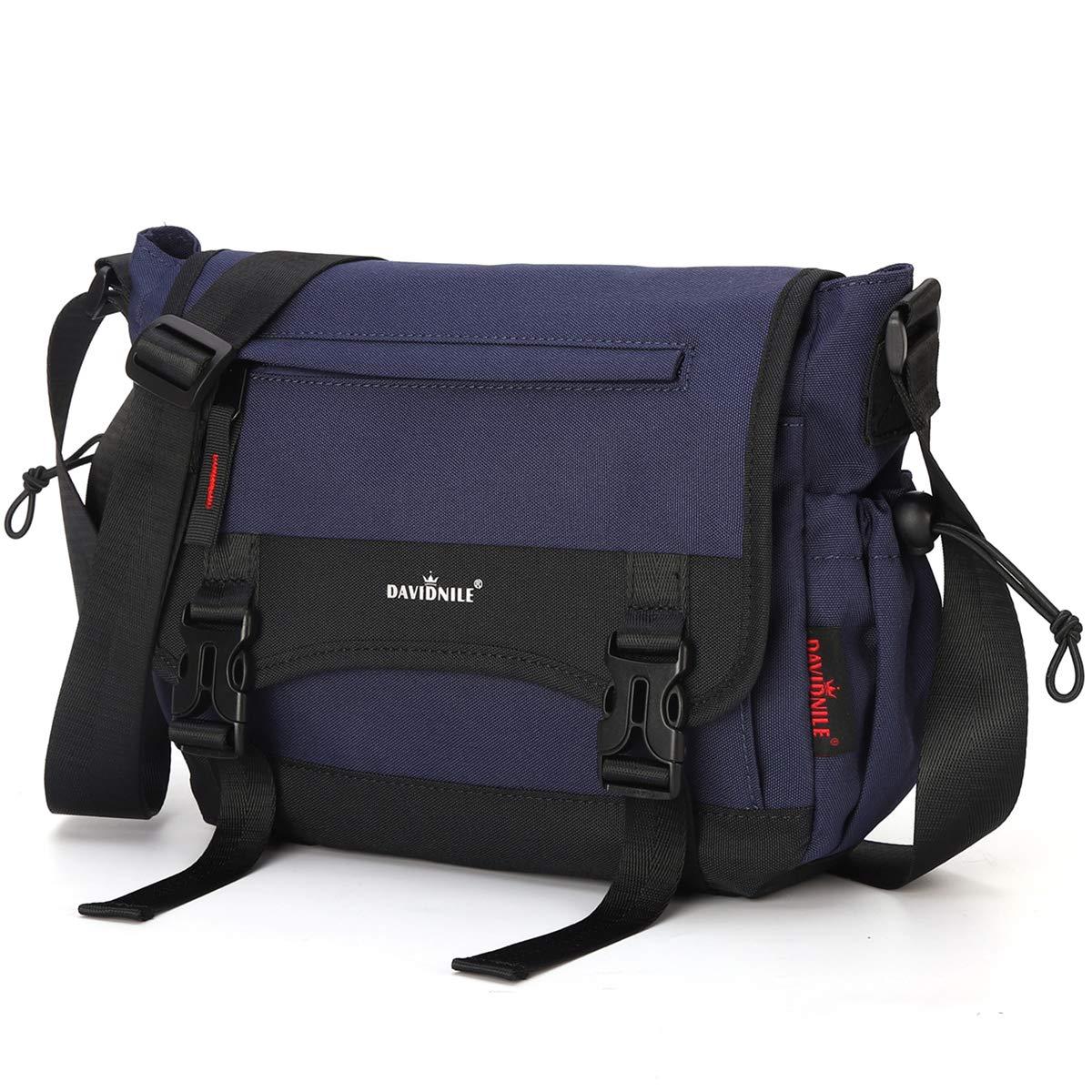 Men s Shoulder Messenger Bag Nylon School Messenger Crossbody Book Bags for Men Business Office Computer Bag Briefcase Dark Blue