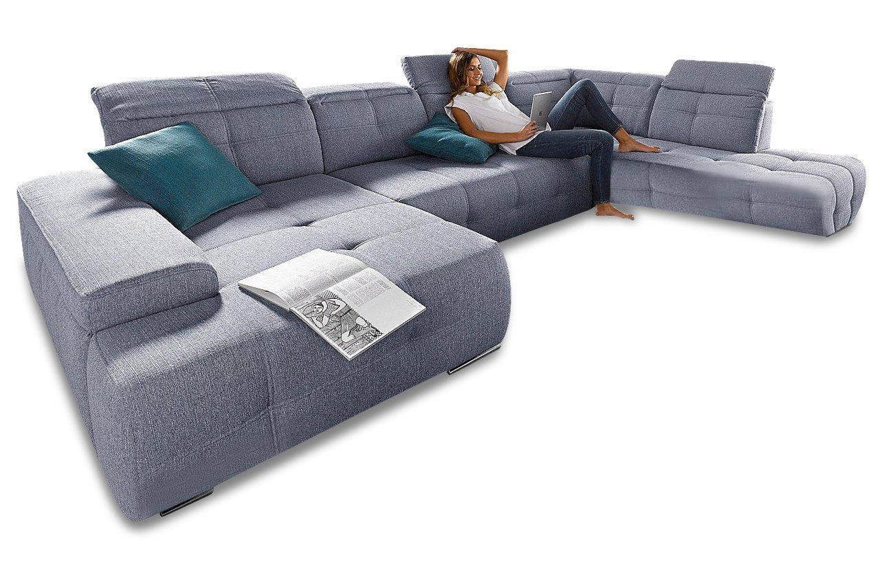 Sofa Wohnlandschaft Mistral Grau Webstoff Hellgrau Gunstig Bestellen