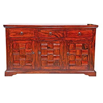 Sheesham Wood Sideboard|Cabinet for tv+Storage+Home+Decor+Kitchen+Bathroom+Dining Hall|Sheesham Wood Chest drawe