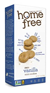 Homefree Treats you Can Trust, Organic, Vanilla Mini Cookies, 5-Ounce (Pack of 6)